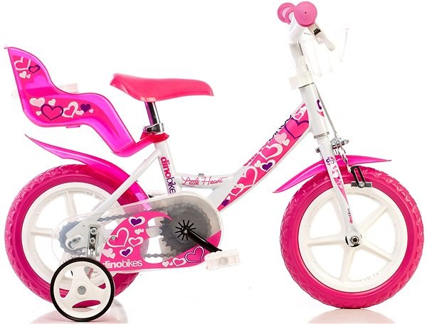 "Dino Bikes 12 pink - Detský bicykel 12"""