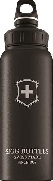 SIGG WMB Swiss Emblem Black Touch 1,0 l - Fľaša na vodu