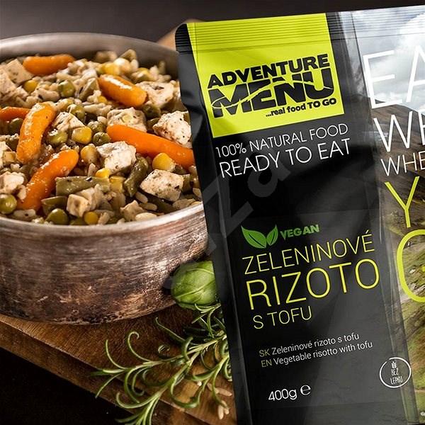 Adventure Menu Zeleninové rizoto s tofu - Trvanlivé jedlo