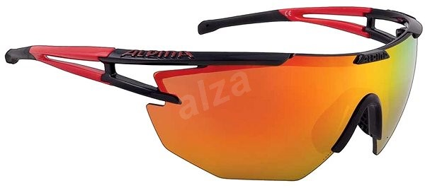 Alpina Eye-5 Shield CM+ black-red - Okuliare  cfa0da8f081