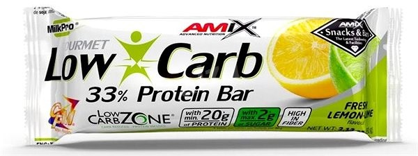 Amix Nutrition Low-Carb 33 % Protein Bar, 60 g, Lemon-Lime - Proteínová tyčinka