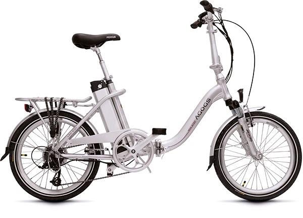 Agogs LowStep strieborný 2017/18 11Ah - Elektrický mestský bicykel