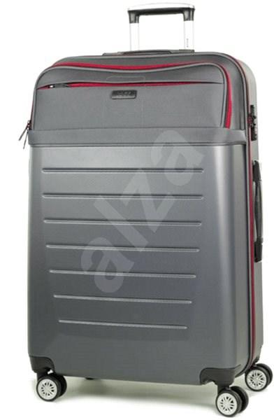 41215b52b6a8e Rock TR-0166/3-L ABS/PES – charcoal - Cestovný kufor s TSA zámkom ...