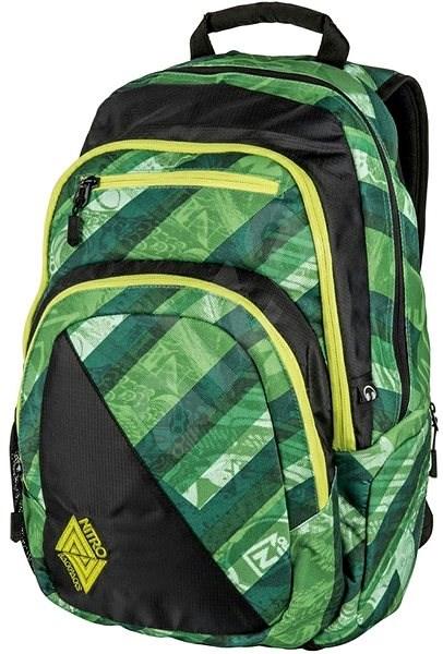 Nitro Stash Wicked Green - Školský batoh