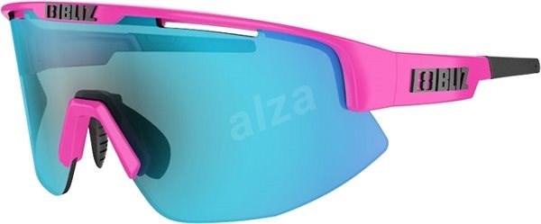 BLIZ MATRIX Shiny Pink Brown w Blue Multi - Okuliare