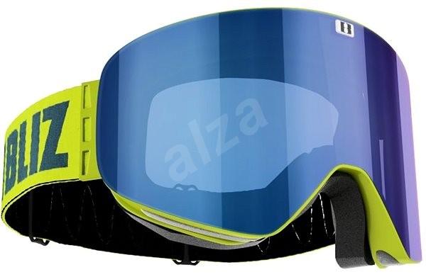 Bliz Edge - Lime Green - hnedá w Blue Multi - Lyžiarske okuliare ... f4af1da299e