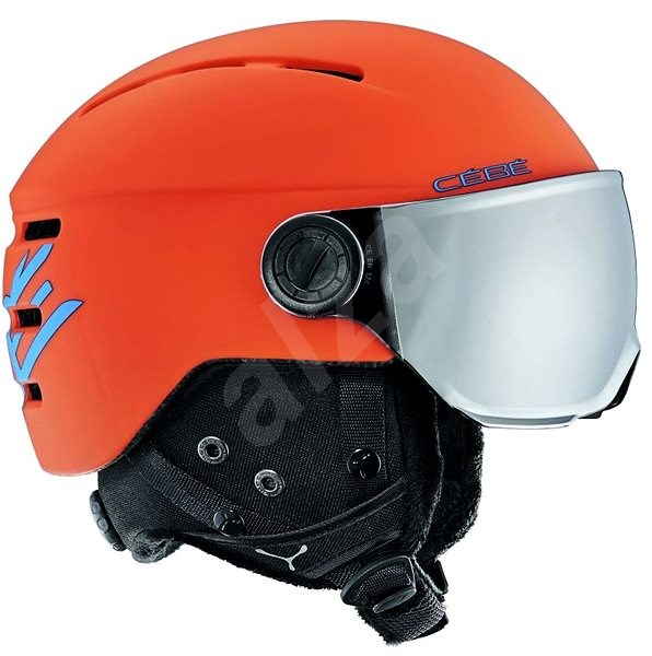 Cébé Fireball Junior-Matt Orange Blue - Lyžiarska prilba  4dd0248739b