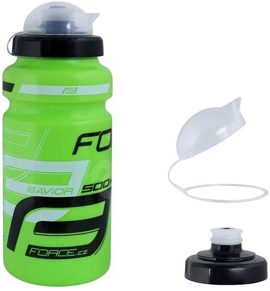 Force SAVIOR ULTRA 0,5 l, zeleno-bielo-čierna - Fľaša na vodu