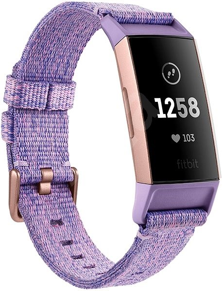Fitbit Charge 3 Lavender Woven/Rose-Gold Aluminium - Fitness náramok