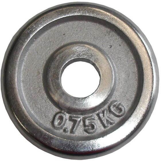 Acra Závažie chrómové 0,75 kg/tyč 25 mm - Závažie na činky