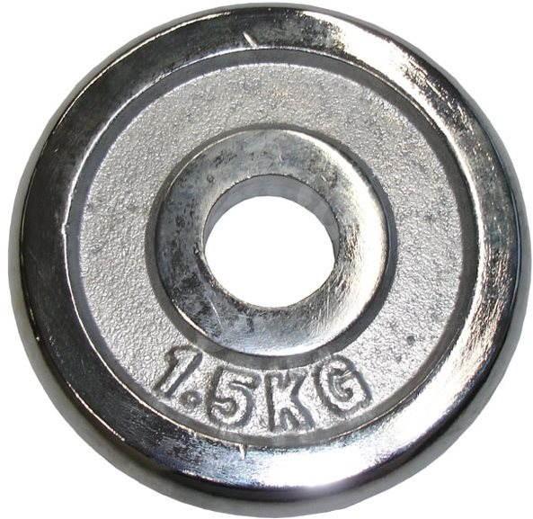 Acra Závažie chrómové 1,5 kg/tyč 25 mm - Závažie na činky