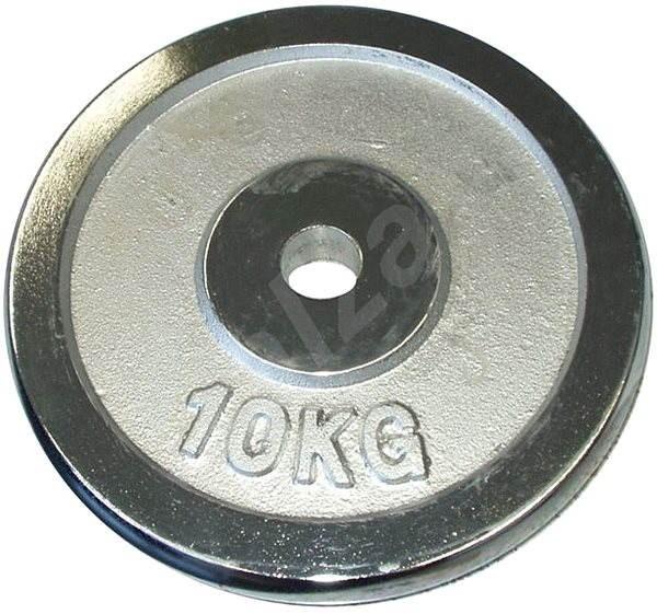 Acra Závažie chrómové 10 kg/tyč 25 mm - Závažie na činky