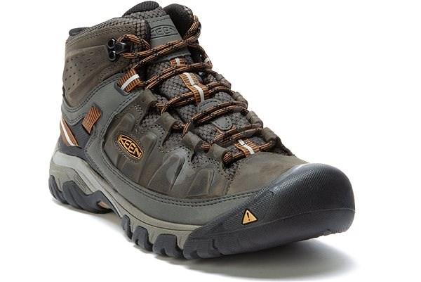 KEEN TARGHEE III MID WP M black olive/golden brown EU 42/260 mm - Outdoorové topánky