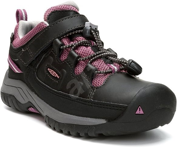 Keen Targhee Low WP Y raven/tulipwood EU 32/33/197 mm - Outdoorové topánky
