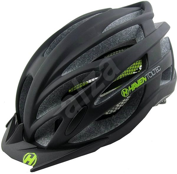 Haven Toltec black / green + black visor veľ. S / M - Prilba na bicykel