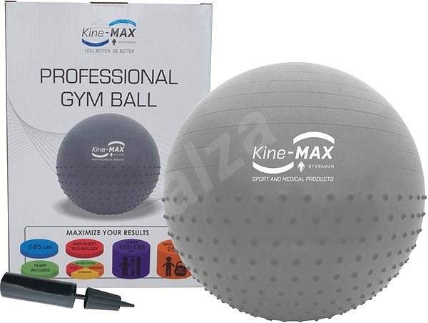 Kine-MAX Professional GYM Ball  – strieborná - Gymnastická lopta