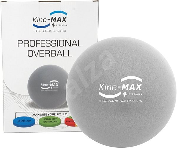 Kine-MAX Professional OverBall – strieborná - Gymnastická lopta