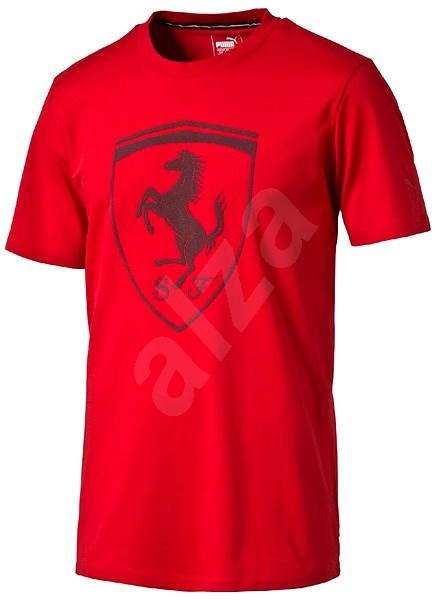 Puma Ferrari Big Shield Tee Rosso SK - Tričko  6f1e3901f3d