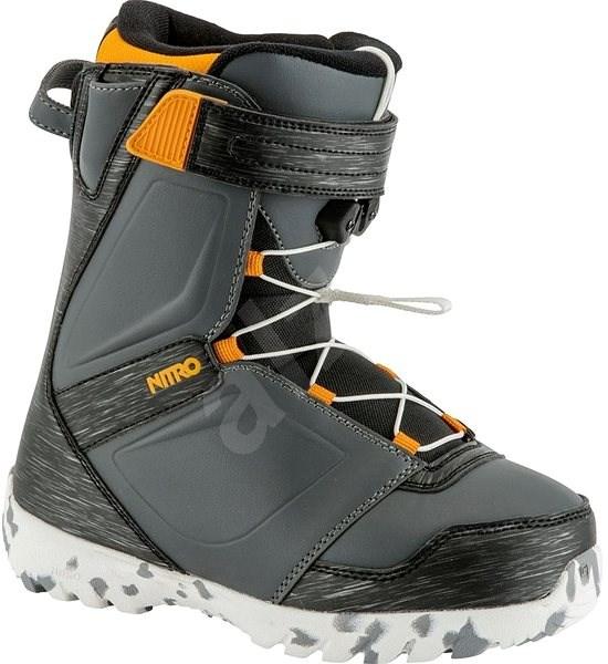 Nitro Droid QLS Charcoal - Black - Orange vel. 36 2/3 EU/ 235 mm - Topánky na snowboard