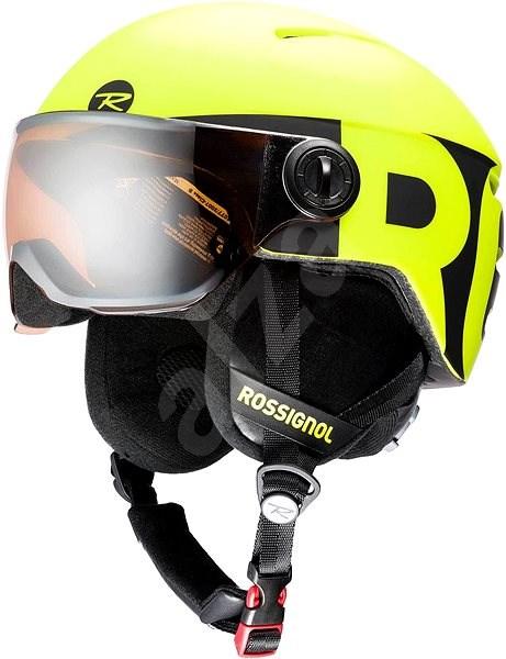 8daed3e0e Rossignol Visor Jr-neon yellow/black vel. XS - Lyžiarska prilba ...