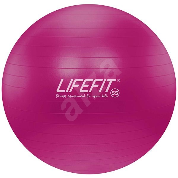 Lifefit anti-burst 55 cm, bordó - Gymnastická lopta