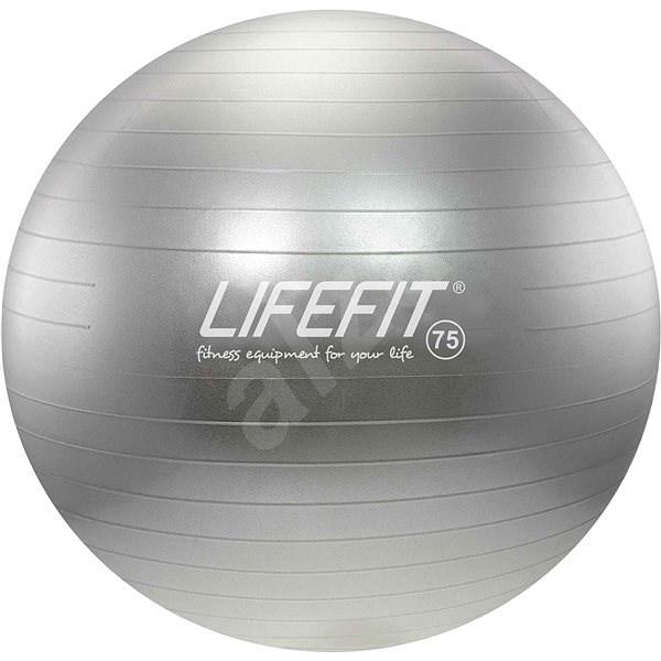 Lifefit anti-burst 75 cm, strieborná - Gymnastická lopta