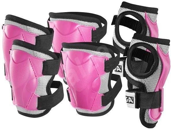 Stiga Comfort JR, ružové L - Chrániče na bicykel