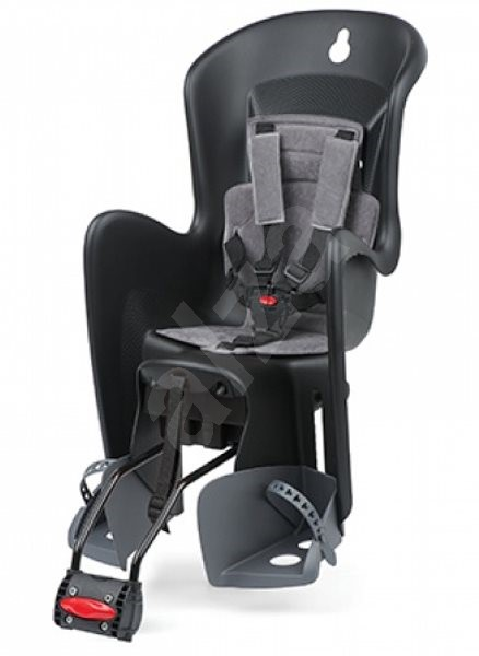 db2947c35f Polisport Bilby RS čierno-šedá - Detská sedačka na bicykel