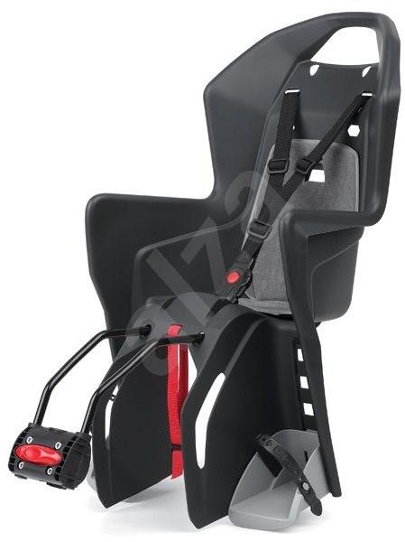 Polisport Koolah čierno-šedá - Detská sedačka na bicykel