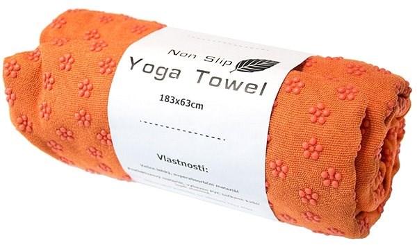 Sharp Shape Non slip towel orange - Uterák