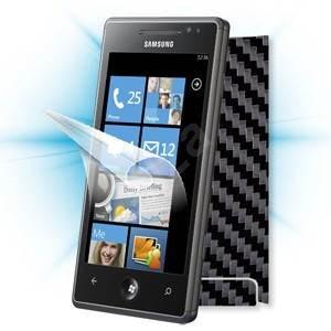 ScreenShield pro Samsung Omnia 7 (i8700) na displej telefonu + Carbon skin černý - Ochranná fólie