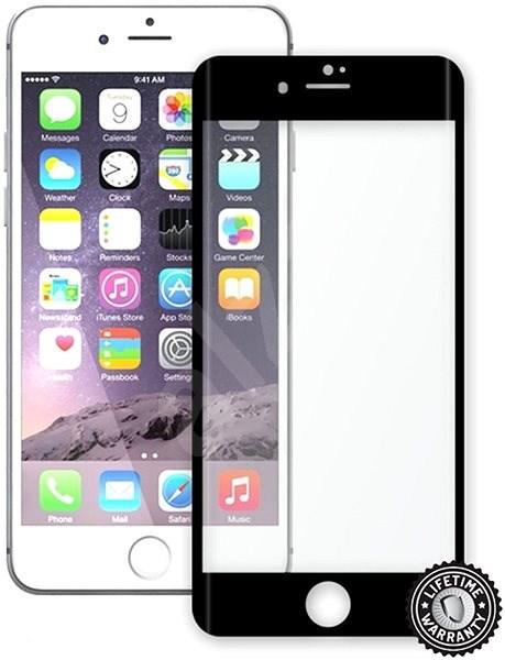 Screenshield APPLE iPhone 7 metalic frame - Ochranné sklo