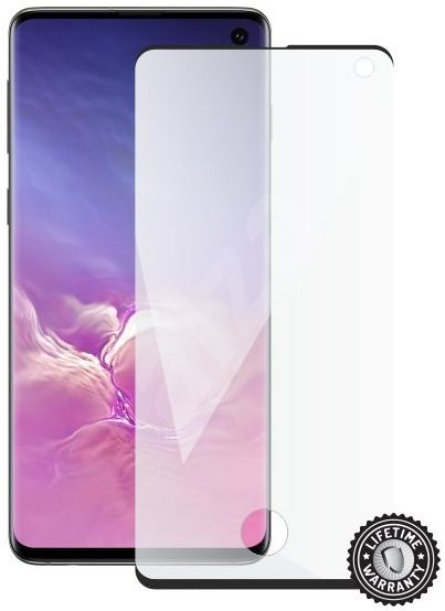 Screenshield SAMSUNG Galaxy S10 (black – CASE FRIENDLY) - Ochranné sklo