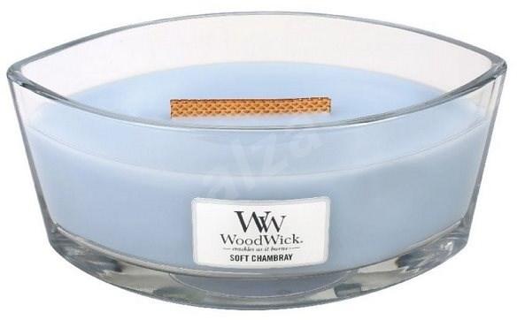 WOODWICK Soft Chambray Hearthwick Candle 453,6 g - Sviečka