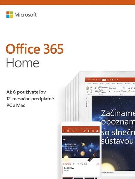 Microsoft Office 365 Home Premium SK (BOX) - Kancelárska aplikácia