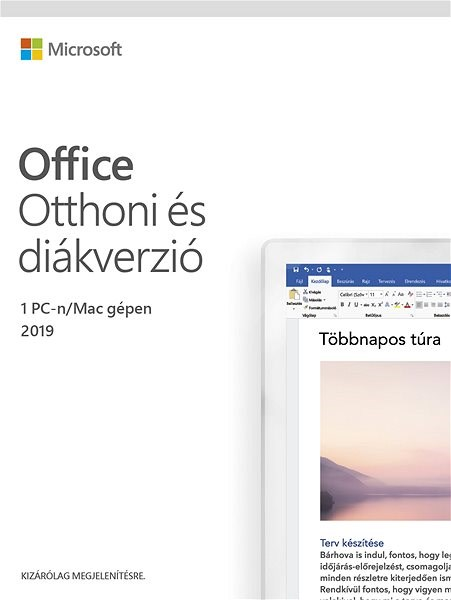 Microsoft Office 2019 Home and Student HU (elektronická licence) - Elektronická licence