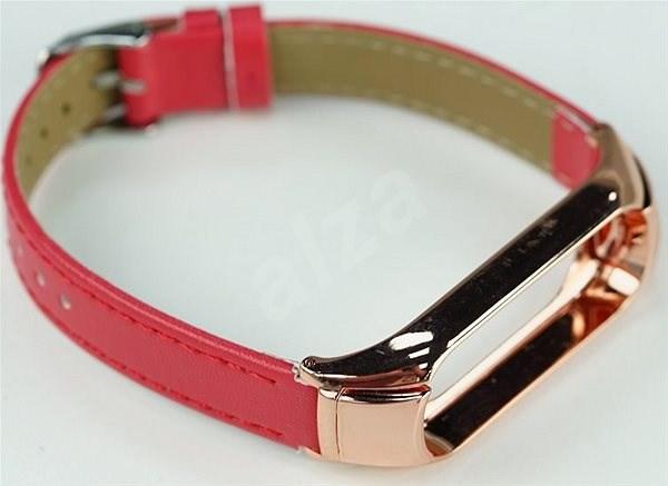 SXT Mi Band 3 koženkový náramok červený - Remienok