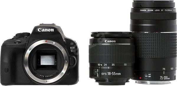 Canon EOS 100D body + EF-S 18-55mm DC III + 75-300mm DC III + 35mm - Digitálna zrkadlovka