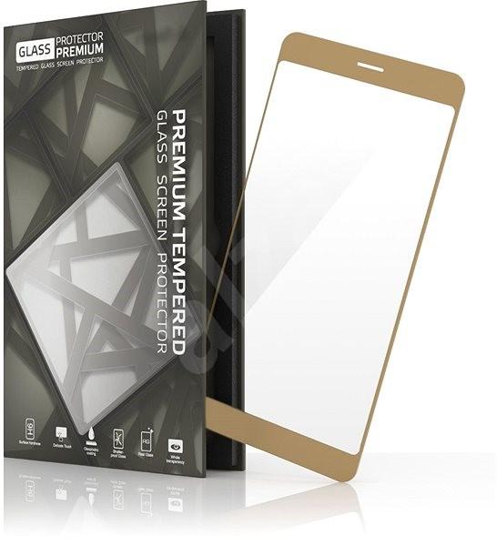 Tempered Glass Protector rámčekové pre Honor 8 Zlaté - Ochranné sklo