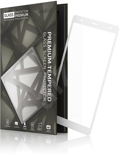 Tempered Glass Protector Rámikové pre Sony Xperia XZ2 Biele - Ochranné sklo