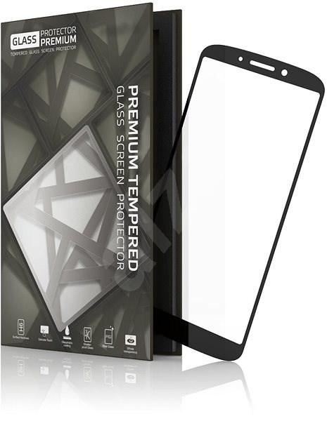 Tempered Glass Protector Rámčekové na Moto G6 Čierne - Ochranné sklo