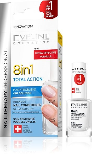 EVELINE Cosmetics Spa Nail Total action 8in1 12 ml - Lak na nechty