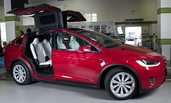 TESLA Model X 100D červená - Elektromobil  3da0d1f0098