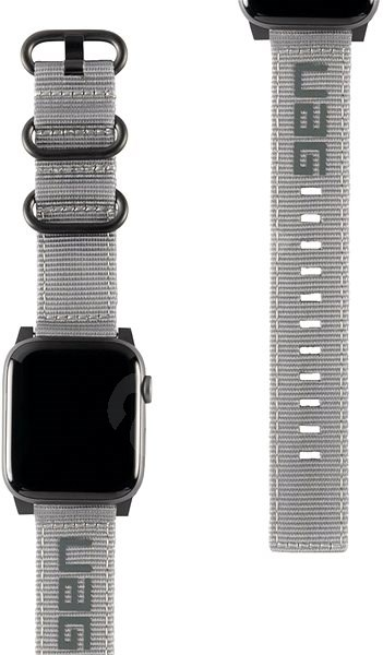 UAG Nato Strap Grey Apple Watch 44/42 mm - Remienok