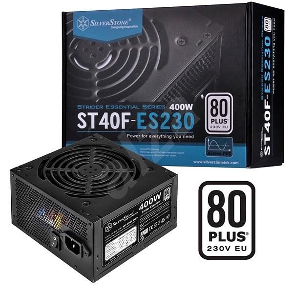 SilverStone Strider Essential 80Plus ST40F-ES230 400 W - Počítačový zdroj