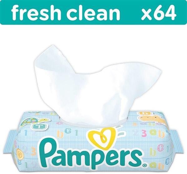PAMPERS Fresh Clean (64 ks) - Detské vlhčené obrúsky