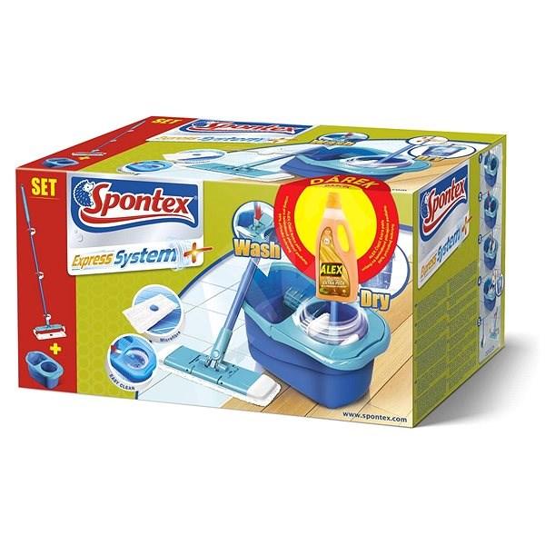 SPONTEX Spontex Express systém mop + Alex extra starostlivosť laminát 750 ml - Mop