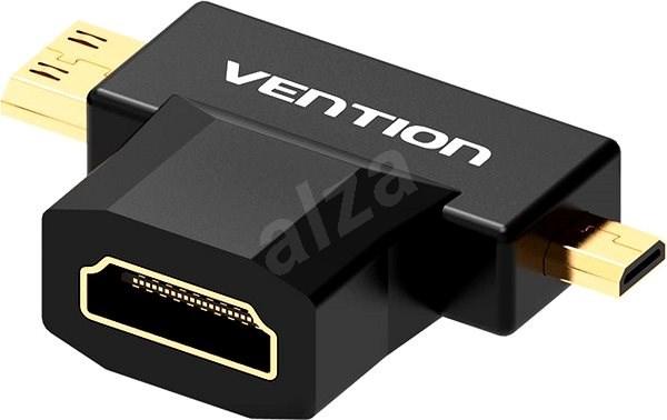 Vention Mini HDMI + Micro HDMI to HDMI Female Adapter Black - Redukcia