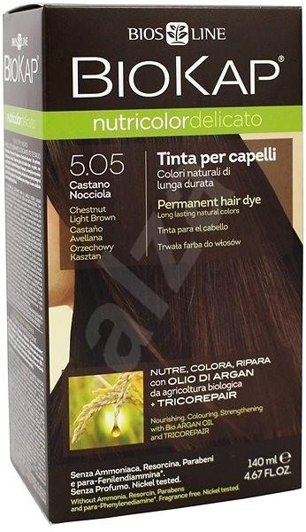 BIOKAP Nutricolor Delicato Chestnut Light Brown Gentle Dye 5.05 140 ml - Prírodná farba na vlasy