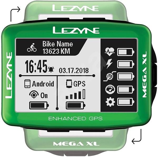Lezyne Mega XL GPS Green - Cyklocomputer